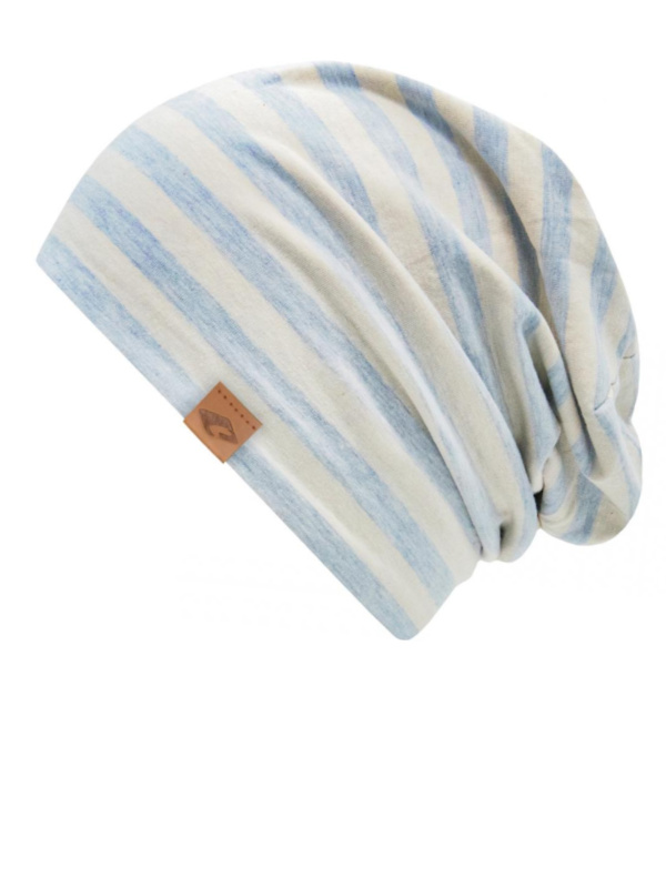 chemo mutsjes dames Mooihoofd - Beanie Cambridge Blue Stripes