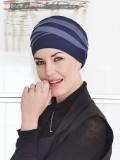 Top Shanti blauw lila - chemo mutsje / alopecia hoofdbedekking