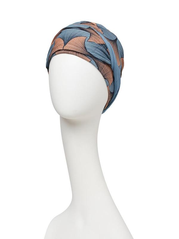Sjaalmutsje Beatrice - Autumn Illusions  - voorgevormd chemo sjaaltje /  alopecia hoofddoekje