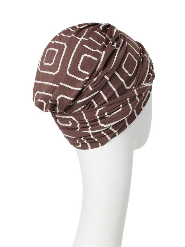 Turban Shakti Graphic Pearl - chemo hoofdbedekking / alopecia mutsje