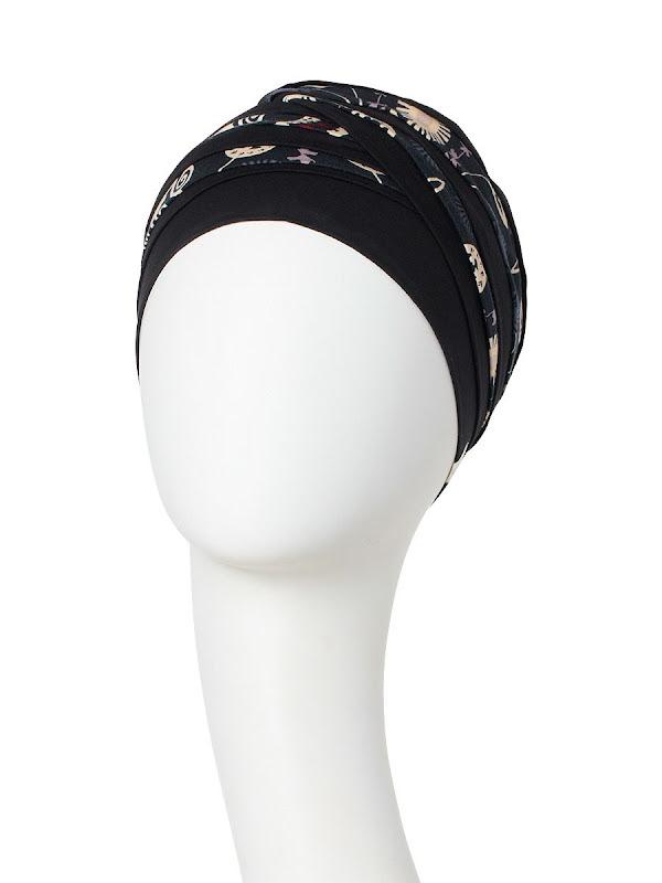 Top Shanti Phantom Grey - mutsje chemo / alopecia hoofdbedekking