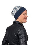 Top Mix Pebbles Blue - chemo mutsje / alopecia mutsje