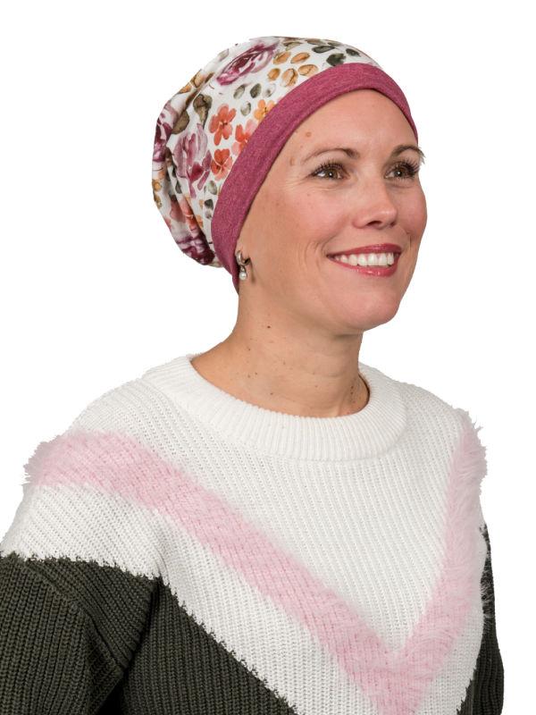 Top Mix Rose Garden - chemo mutsje / alopecia mutsje