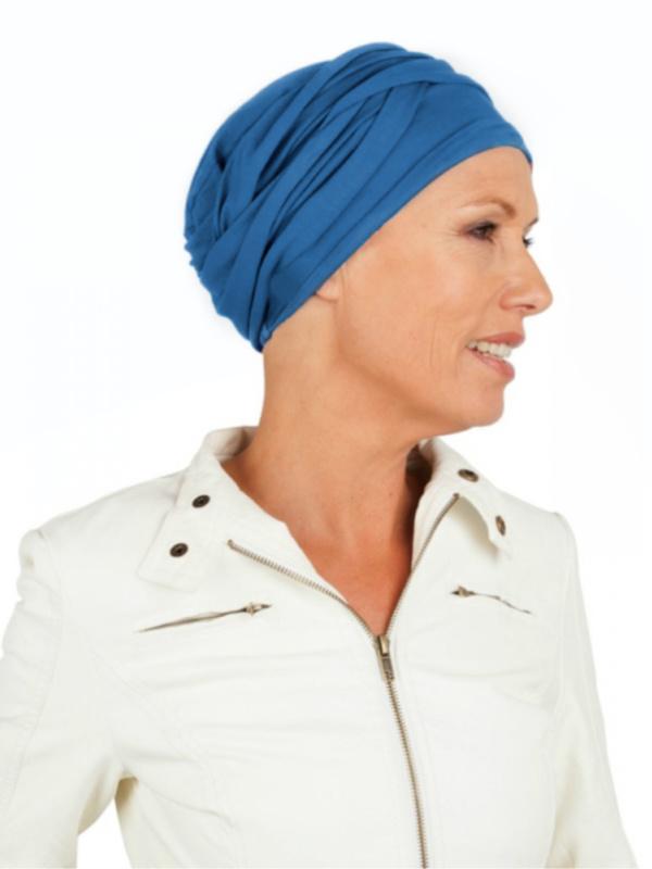 Chemo mutsjes Mooihoofd - Top PLUS blauw