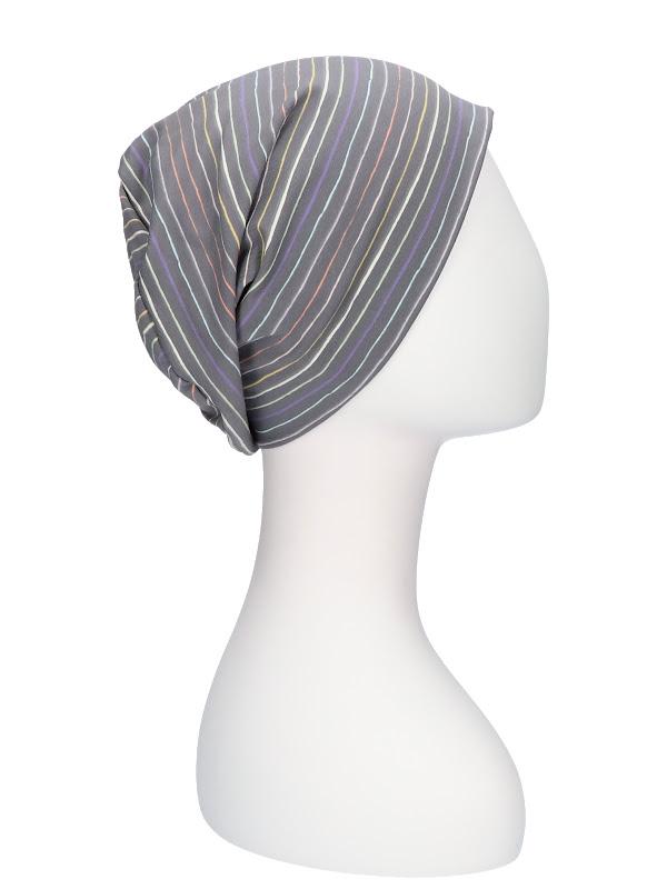 Top Tio Stripes Rainbow - mutsje chemo / alopecia hoofdbedekking