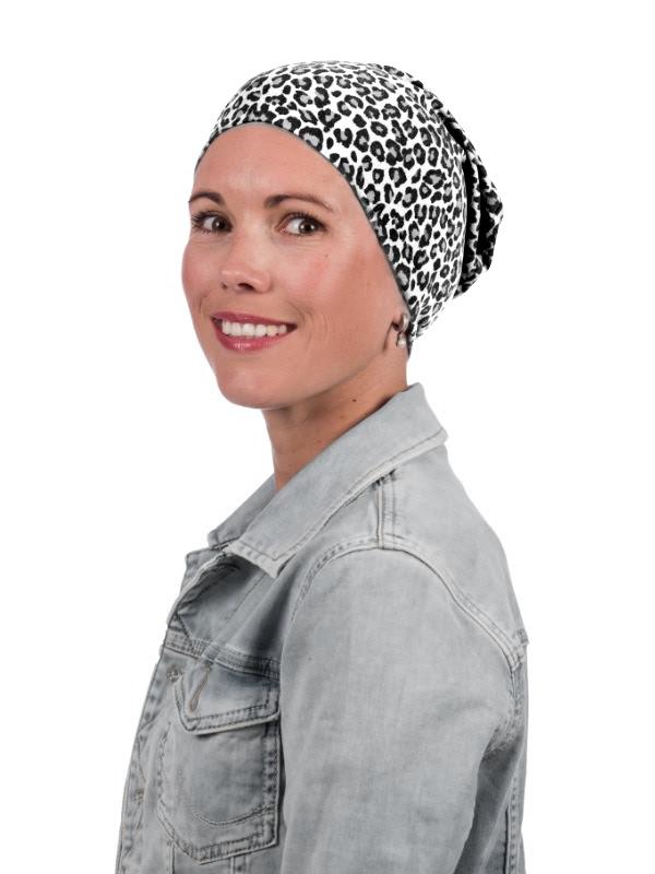 Top Tio Panter zwart /wit - goedkope chemo mutsjes Mooihoofd