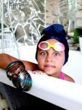 Badmutsje Schuim - chemo mutsje voor meisjes