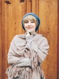 Haarstukje: Pony Alex Brooks gecombineerd met een mutsje is een chemo mutsje met haar.