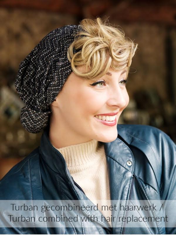 Turban Vintage Ama - chemo mutsje / alopecia mutsje