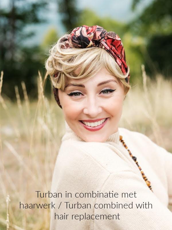 Turban Vintage Abey - chemo mutsje / alopecia mutsje