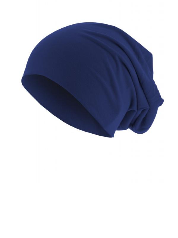 Goedkope chemo mutsjes Mooihoofd - Top beanie  jersey 10285 royal blue