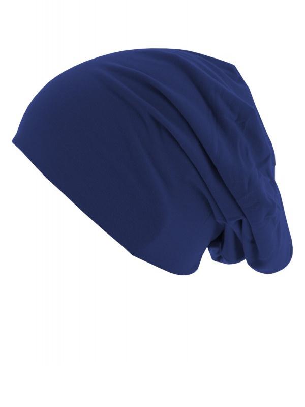 Chemo mutsjes Mooihoofd - Top beanie  jersey 10285 royal blue