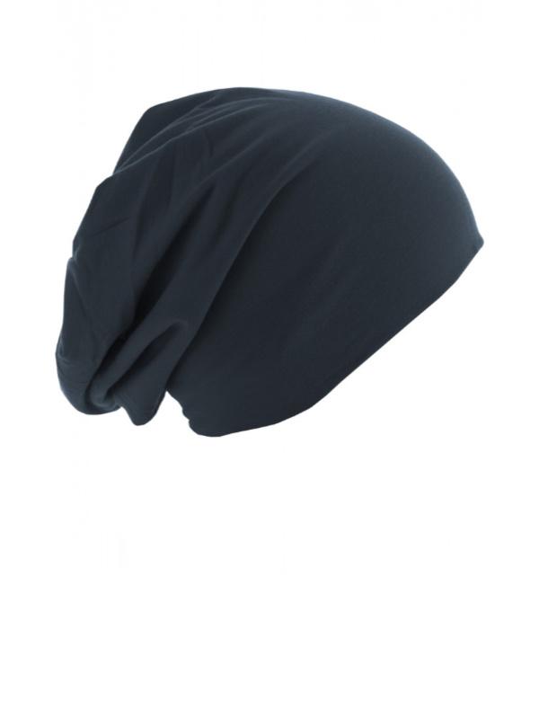Chemo mutsjes Mooihoofd - Top beanie  jersey 10285 navy