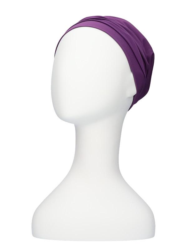 Comfortabel mutsje Iris paars - chemo muts / alopecia mutsje