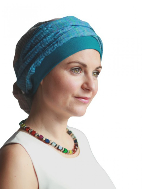 Top Mano print P - chemo mutsje / alopecia mutsje