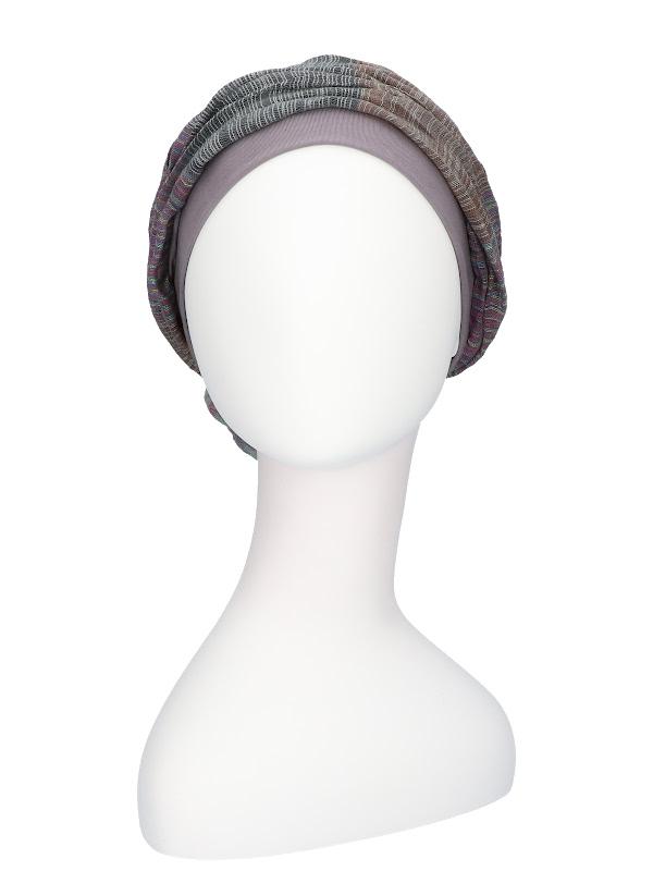 Top Mano print grijs - chemo mutsje katoen / alopecia mutsje
