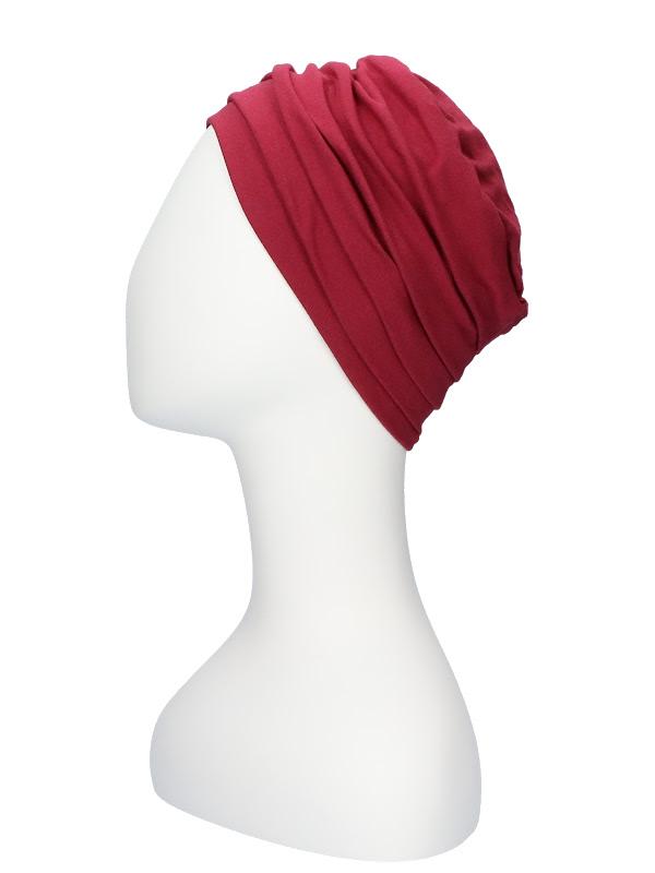 Top Noa Rood - chemo mutsjes Lookhatme / alopecia hoofdbedekking