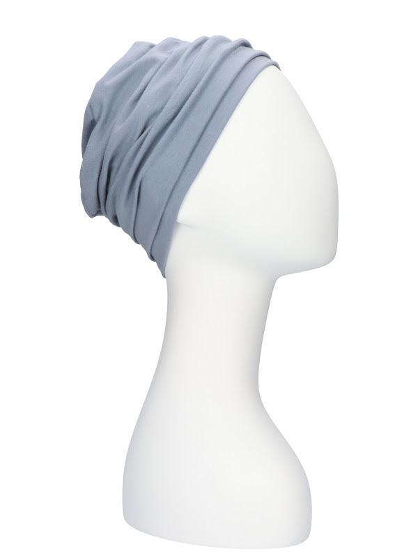 Top Noa blauwgrijs- mutsje chemotherapie / alopecia mutsje