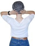 Chemo mutsjes met sjaal Lookhatme - Sjaalmutsje Fusion Jeans