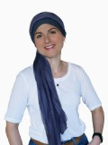 Chemo mutsjes met sjaal Lookhatme - Sjaalmutsje Fusion navy