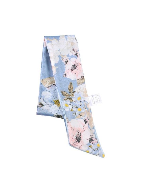 Chemo mutsjes accessoires - Siersjaal Blossom Blue